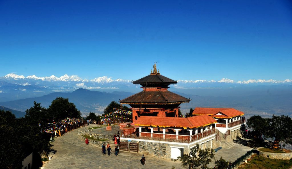 Mountain View from Chandragiri Hills bhaleshor mahadev Temple