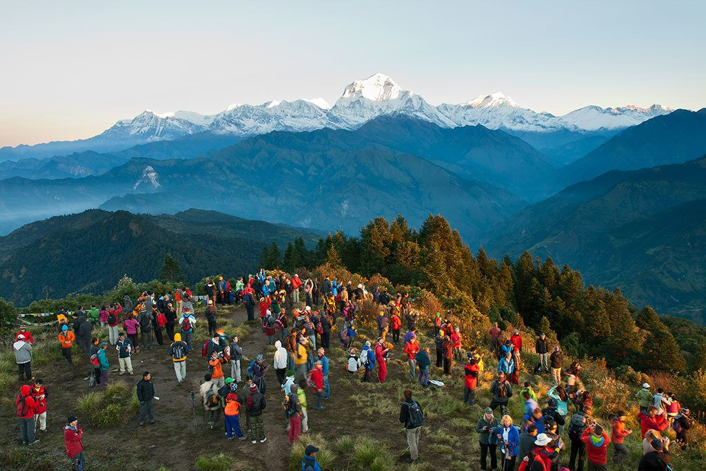 Dhaulagiri Himalaya Range & Sunrise view from Ghorepani Poonhill