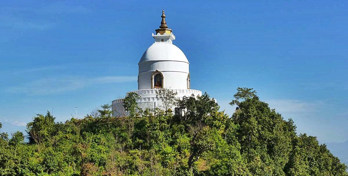 hiking to Peace Pagoda Pokhara