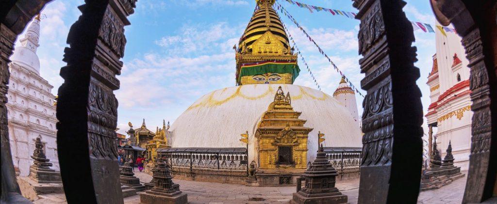 Swayambhunath Buddhist Temple in Kathmandu